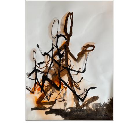Sleepless Paint 017 - 48 x 64 cm - Ink on vélin d'Arches.