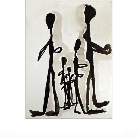 Sleepless Paint 018 - 55 x 75 cm - Mixed media on paper.